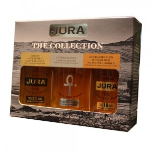"""illustration - Whisky Jura """"the collection"""" 3 x 5cl"""